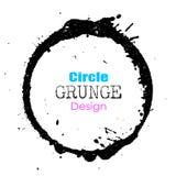 Círculo del Grunge stock de ilustración