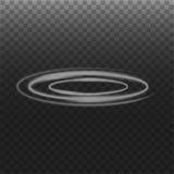 Círculo del humo en fondo transparente Imagenes de archivo