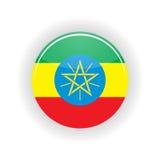 Círculo del icono de Etiopía Imagenes de archivo
