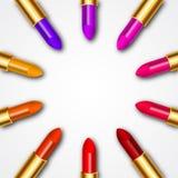 Círculo del lápiz labial del color Fotos de archivo libres de regalías