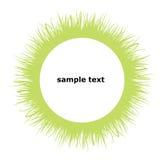 Círculo del marco de la hierba Imagenes de archivo
