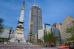 Círculo del monumento, Indianapolis, Indiana Imágenes de archivo libres de regalías