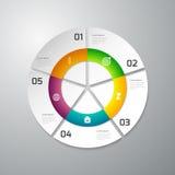 Círculo del papel del infographics del ejemplo del vector dividido ilustración del vector