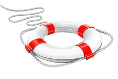 círculo del rescate para la ayuda en agua Foto de archivo libre de regalías