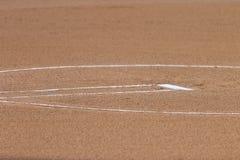 Círculo del softball Imagenes de archivo