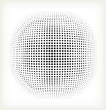Círculo del tono medio del vector Fotografía de archivo libre de regalías