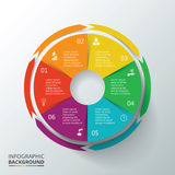 Círculo del vector infographic Foto de archivo