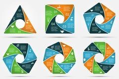 Círculo del vector infographic stock de ilustración