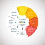 Círculo del vector infographic Imagenes de archivo