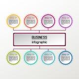 Círculo del vector infographic Diagramas, presentaciones y cartas del negocio Fondo Imagen de archivo