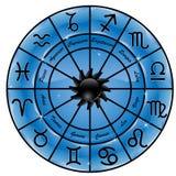 Círculo del zodiaco stock de ilustración