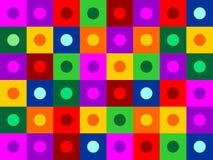 círculo dentro de la textura cuadrada Foto de archivo
