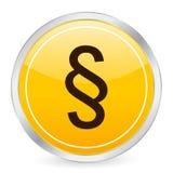 Círculo do amarelo do símbolo do parágrafo ilustração stock