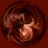 Círculo do cabelo Imagem de Stock Royalty Free