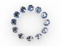 Círculo do diamante Fotografia de Stock Royalty Free