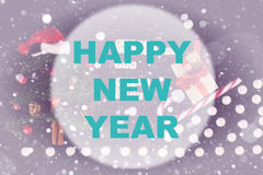 Círculo do fundo do ano novo feliz Foto de Stock Royalty Free