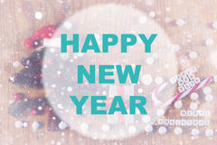 Círculo do fundo do ano novo feliz Fotos de Stock