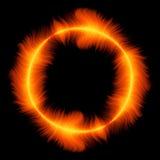 Círculo do incêndio vermelho Foto de Stock Royalty Free