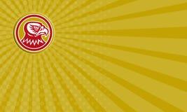 Círculo do lado da cabeça do falcão do cartão retro Fotografia de Stock Royalty Free
