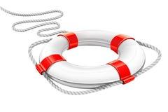 círculo do salvamento para a ajuda na água Foto de Stock Royalty Free