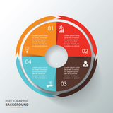 Círculo do vetor infographic Foto de Stock Royalty Free