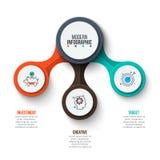 Círculo do vetor infographic Fotografia de Stock Royalty Free