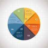 Círculo do vetor infographic ilustração stock