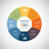 Círculo do vetor infographic ilustração royalty free