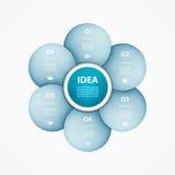 Círculo do vetor infographic Molde para o diagrama, gráfico ilustração stock