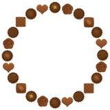 Círculo dos chocolates Fotografia de Stock