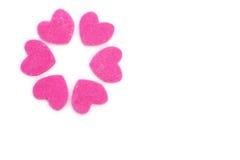 Círculo de corações cor-de-rosa românticos Fotos de Stock Royalty Free