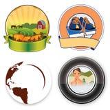 Círculo dos logotipos Fotografia de Stock Royalty Free