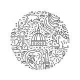 Círculo dos símbolos de Equador Foto de Stock Royalty Free