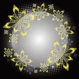Círculo dourado do Natal Imagens de Stock