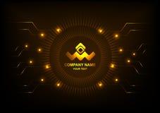 Círculo e tecnologia do vetor do logotipo Imagem de Stock