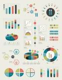 Círculo, elementos infographic redondos do grupo. Imagem de Stock