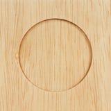 Círculo en la madera. Foto de archivo libre de regalías