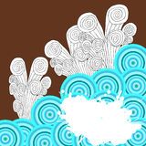 Círculo espiral Grunge Imagens de Stock