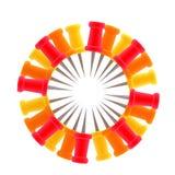 Círculo feito dos pinos coloridos Imagem de Stock