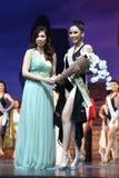 Círculo final da senhorita Supranational Thailand 2017 na fase grande a Fotografia de Stock Royalty Free