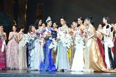 Círculo final da senhorita Supranational Thailand 2017 na fase grande a Imagens de Stock