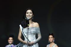 Círculo final da senhorita Supranational Thailand 2017 na fase grande a Fotos de Stock