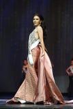 Círculo final da senhorita Supranational Thailand 2017 na fase grande a Foto de Stock Royalty Free