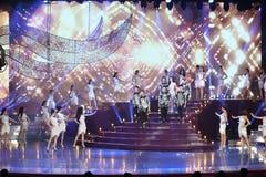 Círculo final de Universo 2017 da senhorita Tiffany em Tiffany Theatre Foto de Stock
