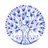 Círculo floral Fotos de Stock