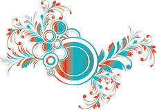 Círculo floral Imagens de Stock Royalty Free