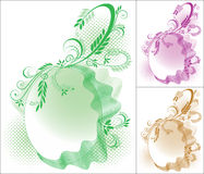 Círculo floral Foto de Stock