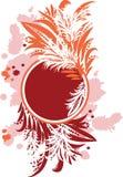 Círculo floral abstrato Imagens de Stock