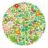 Círculo floral del resorte y del verano ilustración del vector