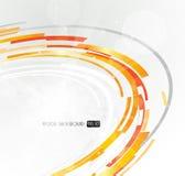 Círculo futurista abstracto de la naranja 3D. Imágenes de archivo libres de regalías